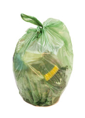 garbage bag isolated on a white background