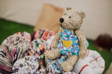 Beautiful toy bear hay