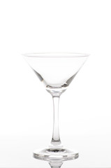 champagne flute, isolated on a white background