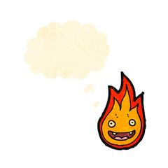cartoon little flame creature