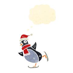 retro cartoon penguin