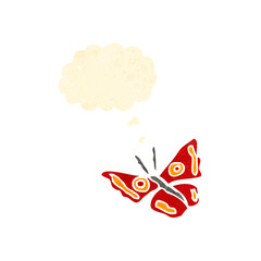 retro cartoon butterfly