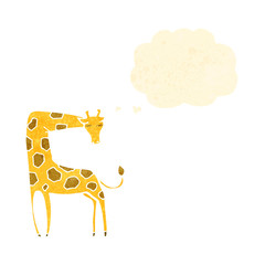 retro cartoon giraffe
