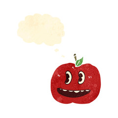 retro cartoon apple