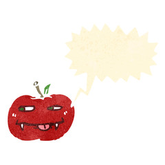 retro cartoon vampire apple