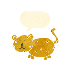 child's drawing of a cheetah
