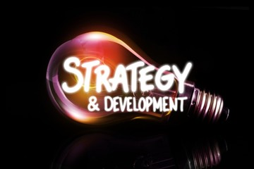 Composite image of strategy and development