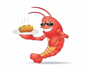 lobster crustaceans mascot