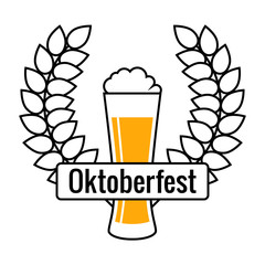 Beer Festival Logo, Isolated Vector Sign