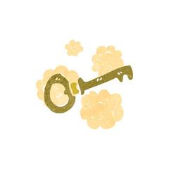 retro cartoon key