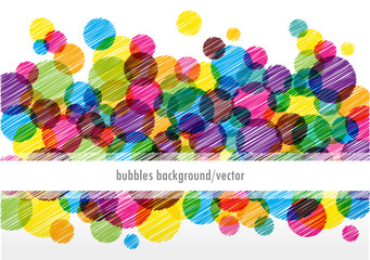 color vector card with bright bubbles