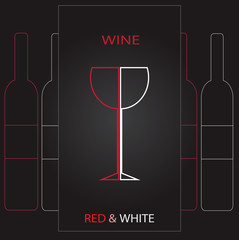 Vector beauty wine map illustration eps