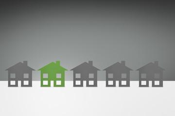 environmental Green family House concept