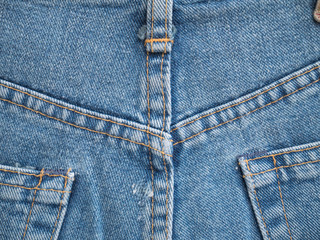 Detail of a blue jeans.