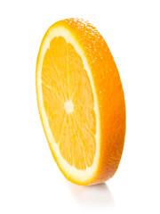 orange slice isolated on the white background