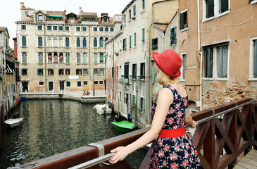 beautiful girl in Venice