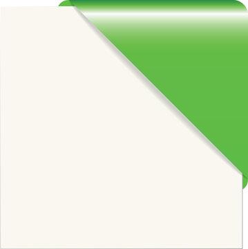 Green paper corner