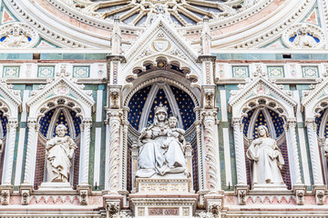 Detail of Cathedral Church Duomo basilica di santa maria del fio