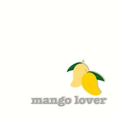 Mango lover logo.