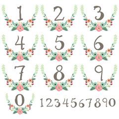 Numeric Wreath Table Card
