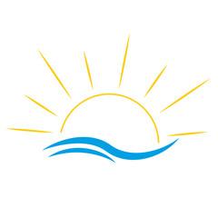 Vektor Sonne Strand Meer Urlaub