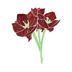 retro flowers illustration