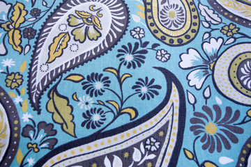 Patterned fabric backgrounds.