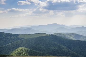 Canvas Prints Hill Slovakian mountains in summer.