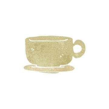retro cartoon teacup