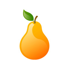 Vector Illustration of a Fresh Pear