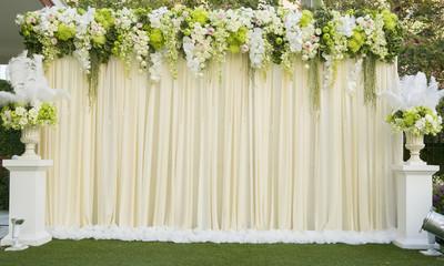 Beautiful flower wedding decoration