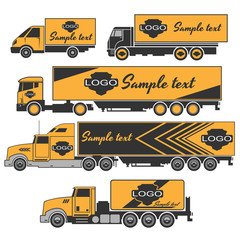 Trucks icons set