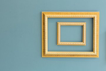 Golden classic picture frames