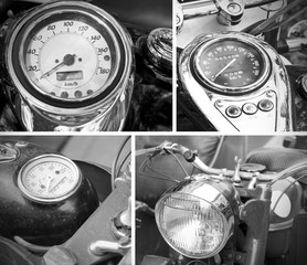 speedometer vintage black and white photo