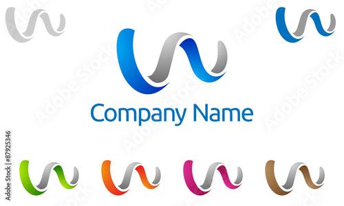 Vector  W  w let...W Logo Design Vector