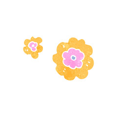 decorative cartoon flowers