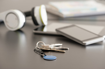 Smartphone, tablet and NFC tag, Near Field Communication theme