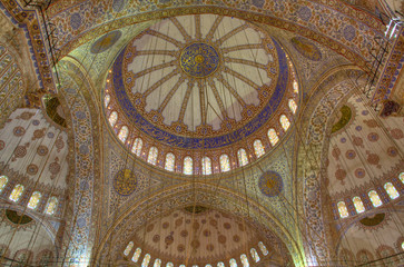 Dome of the Blue Mosque in Istanbul, Turkey