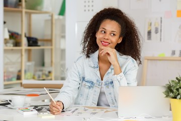 Ethnic businesswoman at work