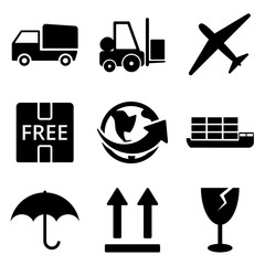 Delivery web and mobile logo icons collection