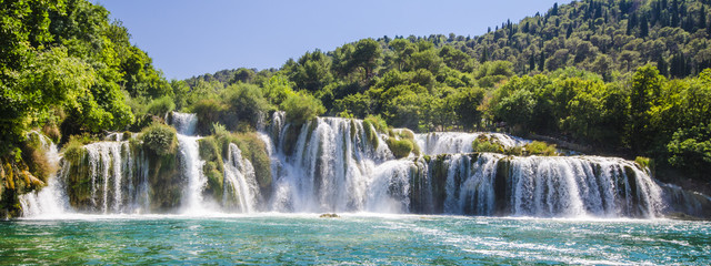 Krka river waterfalls, Dalmatia, Croatia