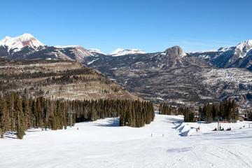 Wide ski run at Purgatory in Durango, Colorado