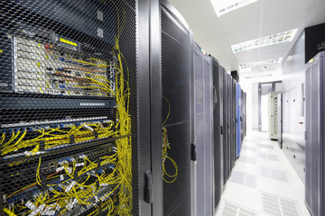 Server cabinet in data centre hall