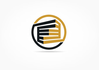 real estate, construction, building, logo