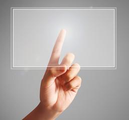 pressing touchscreen button
