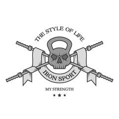 Iron sports logo, emblem.
