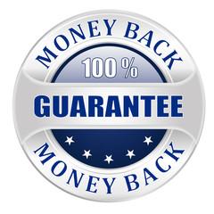 Money back guarantee blue