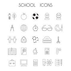 Linear school icons