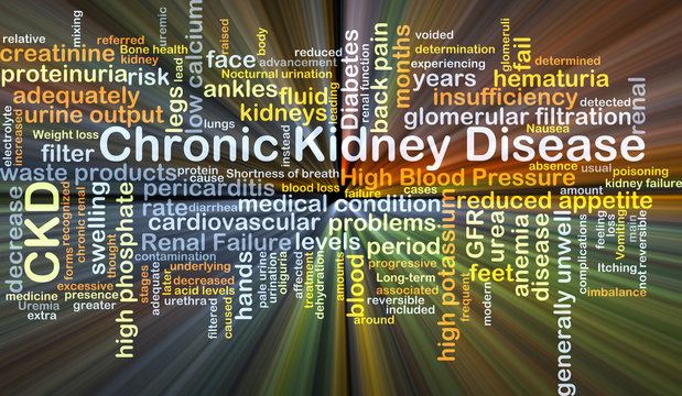 Chronic kidney disease CKD background concept glowing