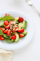 salad with strawberries and avocado